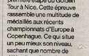 Article de presse - Bérénice Lévèque à Nice